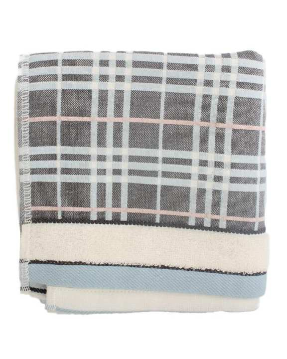 Soft Contracted Absorbent Towel ( Striped) -  Grey