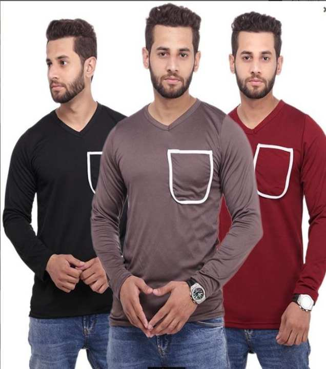 Pack of 3 - Multicolor Pocket Shirts for Men