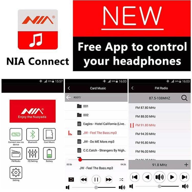 b79f3d6ae7e NIA Q1 - Bluetooth Wireless Headphone with App Control - Black ...