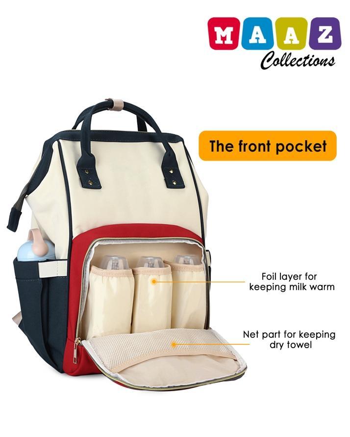 2090c0a0ecf2 Multi Functional Portable Baby Diaper Bag   Nursing Bag Red