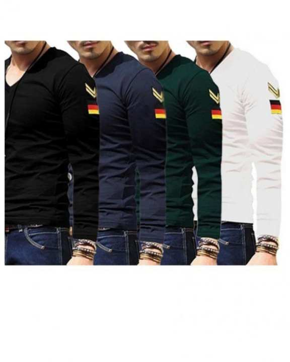 Pack of 4 Germany Logo Full Sleeve T-Shirts