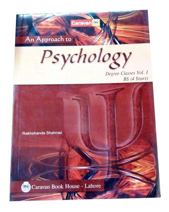 An Approach To Psychology -  Degree Classes Vol. L Bs (4Years)