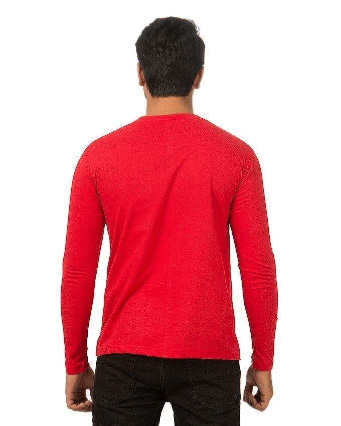 Pack of 2 - Red & Black Cotton T-Shirt for Men
