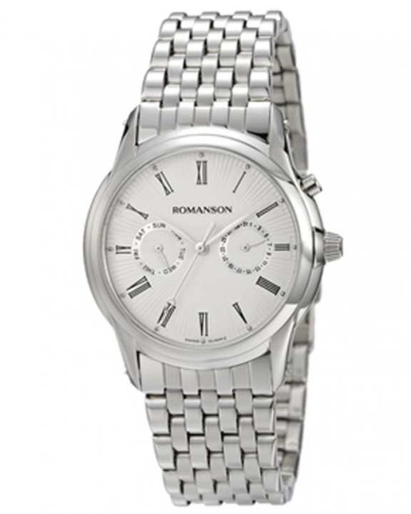 Romanson TM3211F MW WH - Stainless Steel Wrist Watch For Men-Romanson - TM3211F MW WH