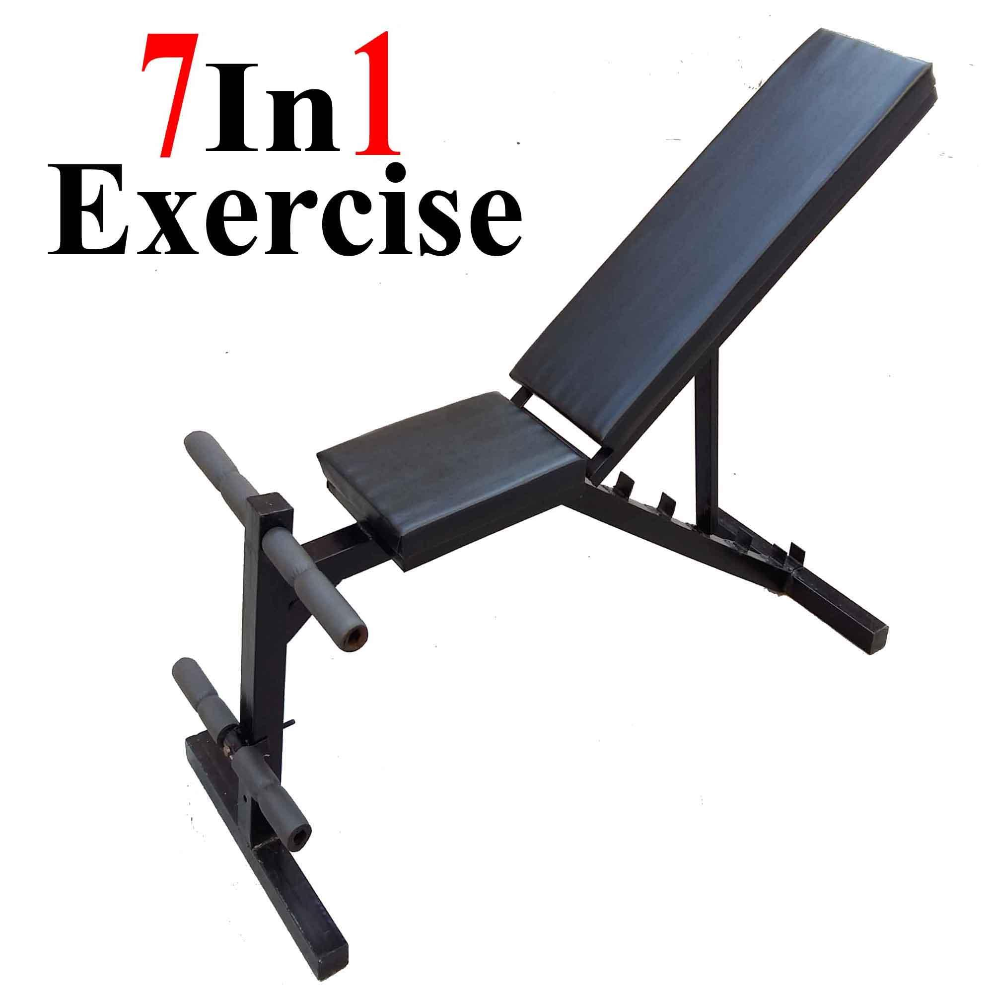 a92d3c184795 7 Position Adjustable Chest Bench Press Incline Decline Straight Leg Chest  Exercise Weight Lifting Body Building