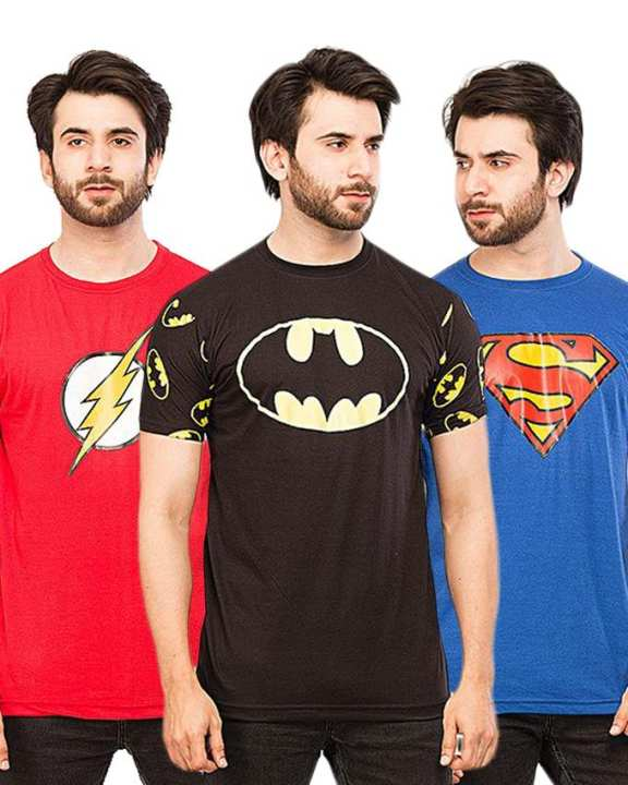 Pack Of 3 New Super Hero Tshirts For Men