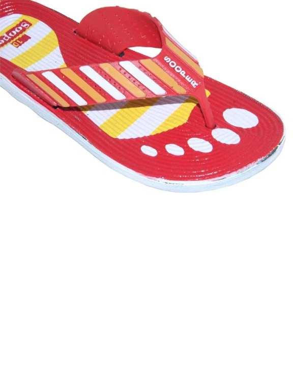 Red - Rubber Slippers for Men