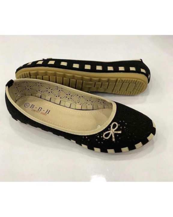 Imported Shoes For Ladies Artificial Leather And Imported Material-Bbh-12-Black-44
