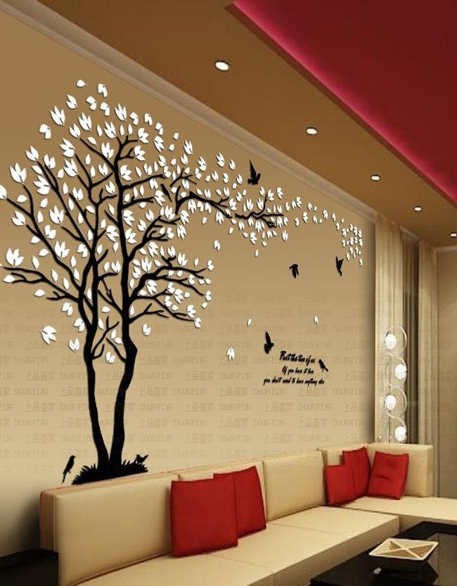 Crystal Three-Dimensional Wall Stickers