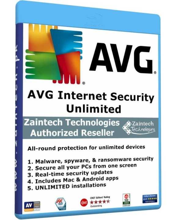 AVG Internet Security - Unlimited - Windows - Andriod - MAC