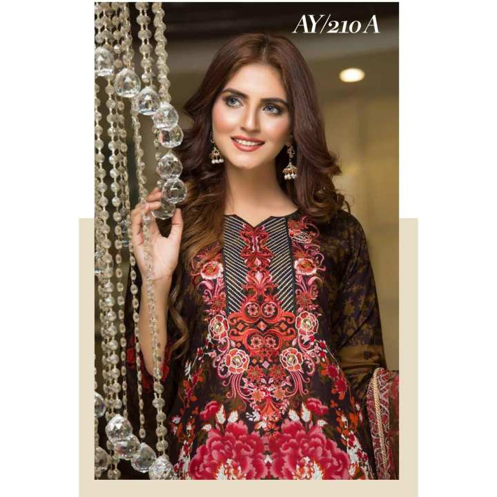 Chase Value Centre Rana Arts Viscose Multi Embroidered Collection AY-210A