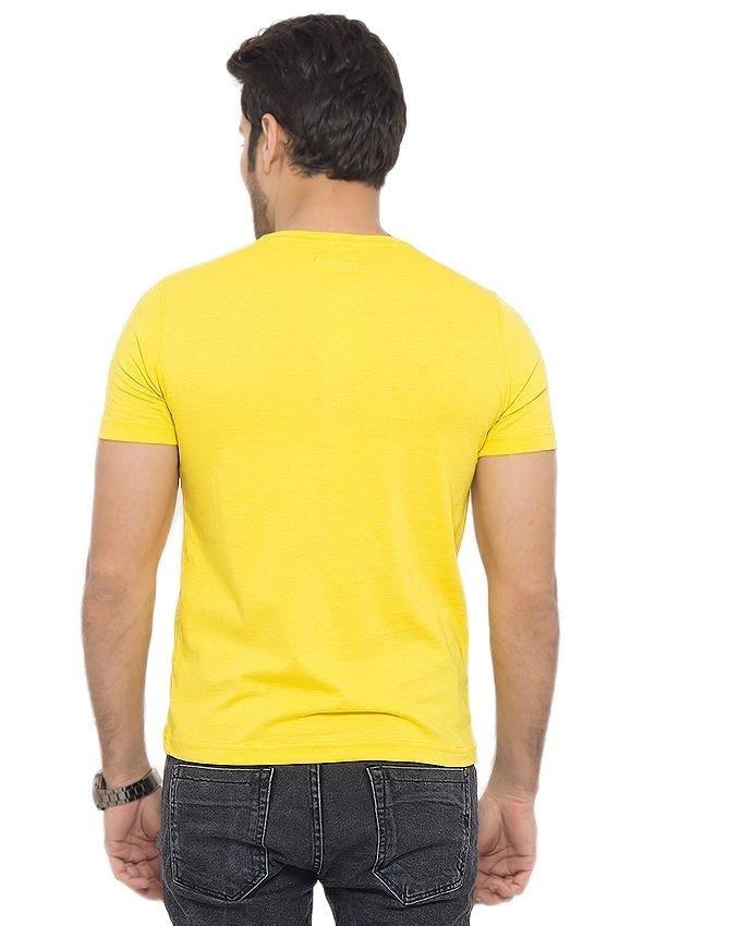 Yellow Cotton Tshirts For Men - Ep_1601
