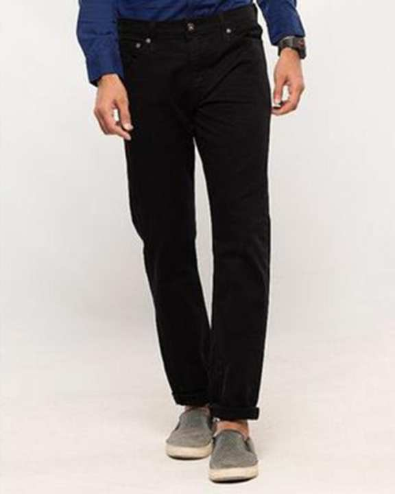 Black Skinny Fit 5 pocket Non-Denim - Flash Sale Exclusive Online Price