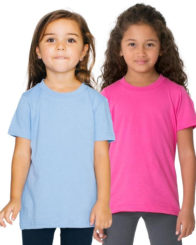 Pack of 2 - Pink And Blue   Kids T-Shirt Combo For Girls