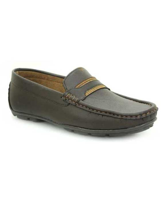Brown Tpr Close Casual Shoes For Men