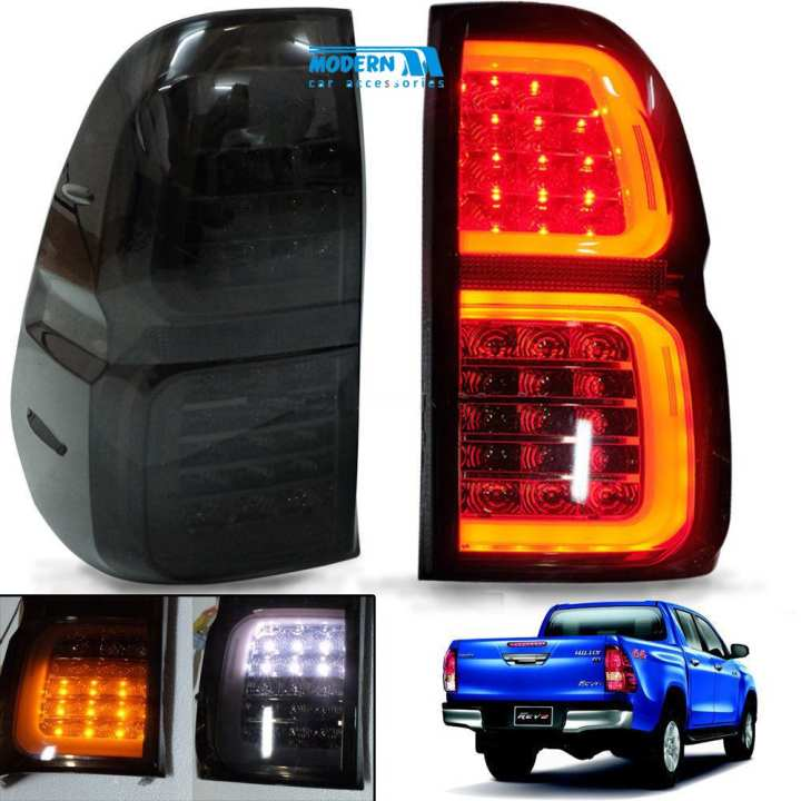 Toyota Revo Smoke LED Tail Light Set - Model 2016-2017