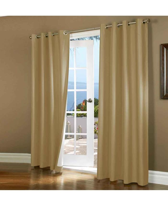 Fancy Jaquard Curtain For Home/Office   2Pc   Skin