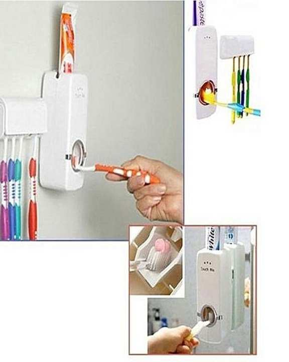 High End Toothpaste Dispenser With Tooth Brush Holder