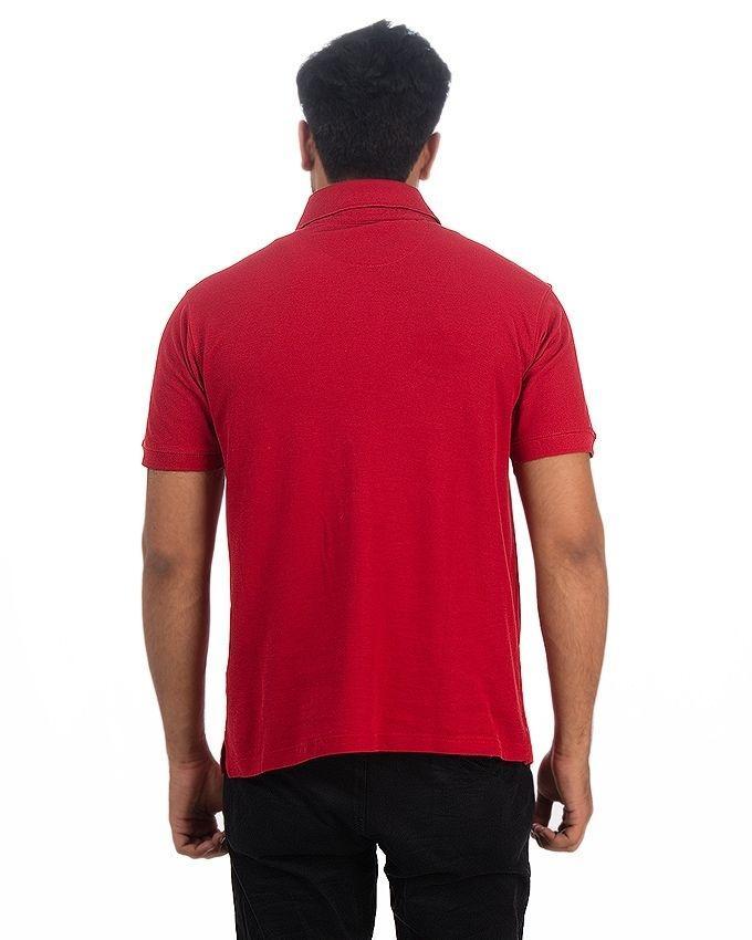 Red Pique Polo For Men - TTP-021