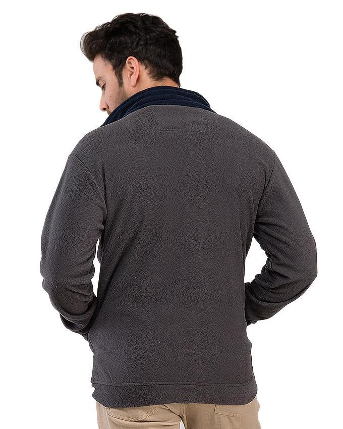 Grey - Poly Fleece - Jacket for Men
