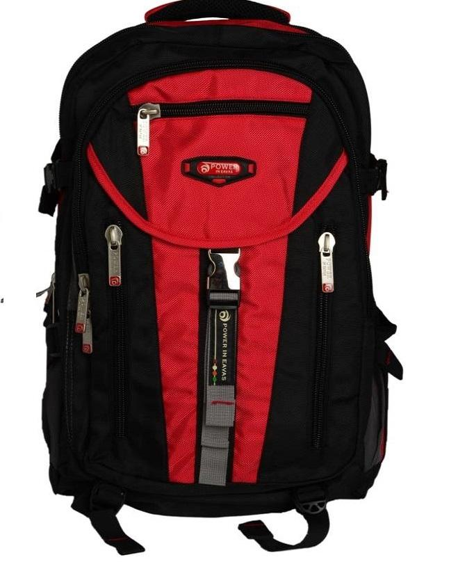 9fe5bbac6b Black And Red Polyester Backpack For Men