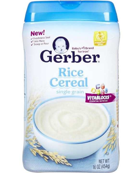 Gerber Rice Single Grain Baby Cereal 454g