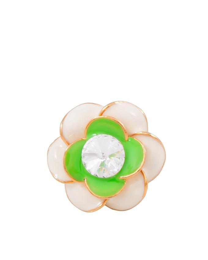 Rose Enameled Flower