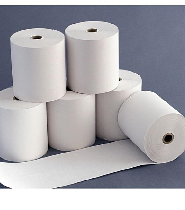Pack of 6 - POS Thermal Printer Roll 57mm x 20 meter - White