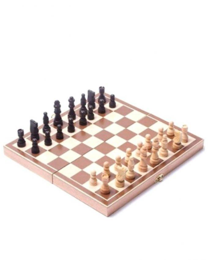 Wooden Chess Set - Brown