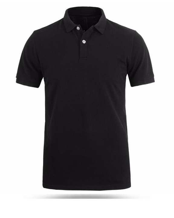 Black Plain Polo t-shirt for men