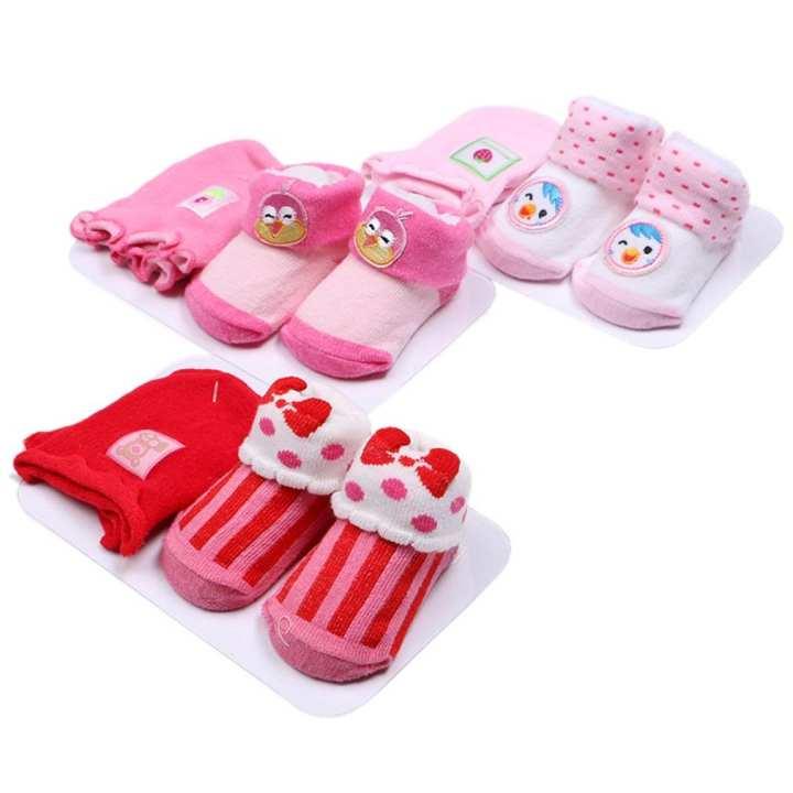 3 Packs Cute Newborn Baby Toddler Unisex Boy Girl Anti-slip Warm Socks