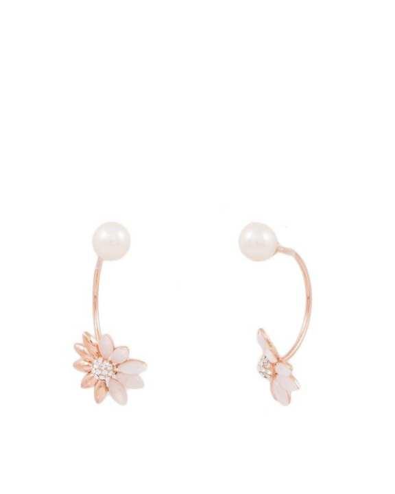 Golden Flower Earrings