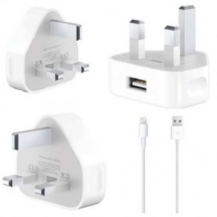 Apple Charger with Lightning to USB charging cable -  uk plug