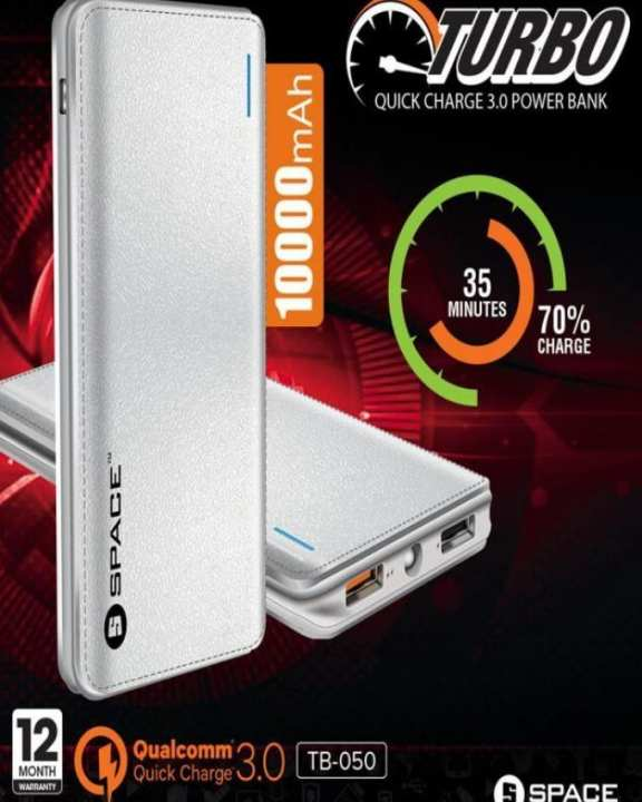 Turbo Quick Fast Charge 3.0 Power Bank TB-050 - 10000mAH