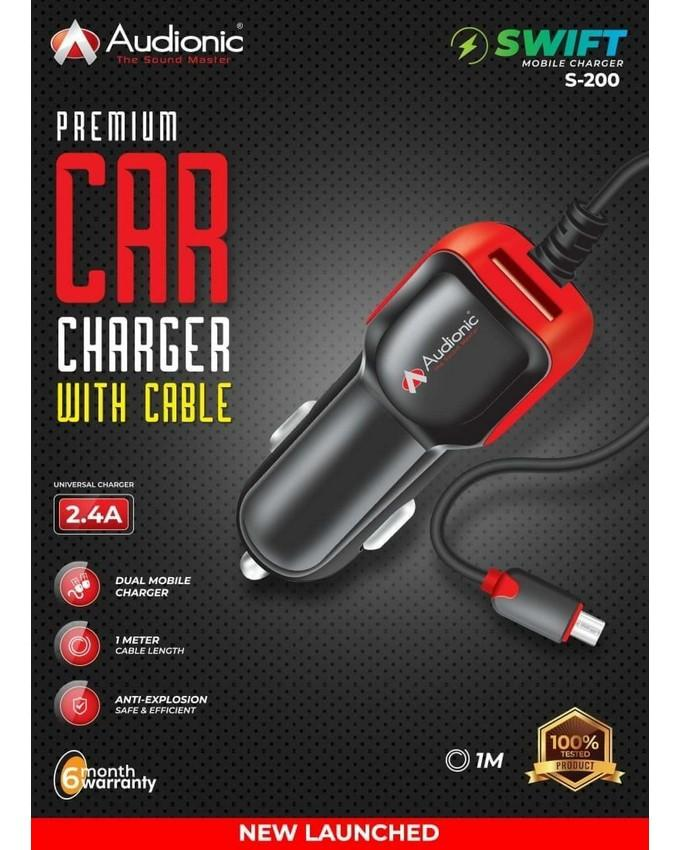 Audionic S-200 Premium Swift Car Charger With Cable
