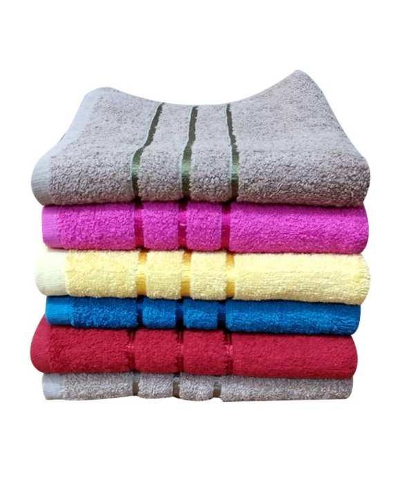 Pack of 6 Bath Towels 3D Designs  20 x 40