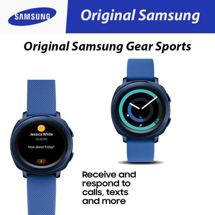 Original Samsung Gear Sports Smart Watch 43mm with Fitness Tracker - Blue