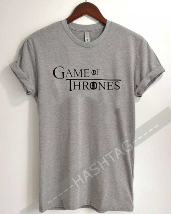GAME OF THRONE GREY HALF SLEEVES T-SHIRT HT-01-313