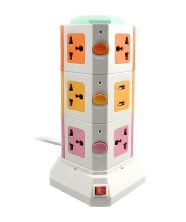 Vertical Power Sockets - Multicolor