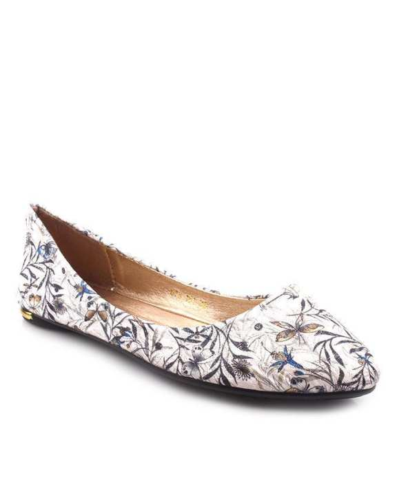 White Synthetic Leather Platinum Pumps For Women