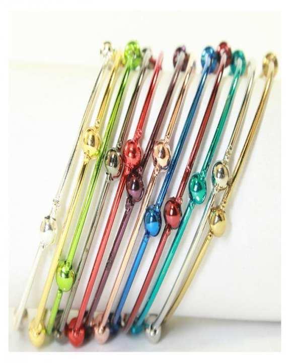 Pack Of 12 –Multi Colour Metal Bangles