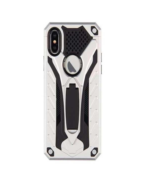 Armour Transformer Hybrid Armour Series Hard And Soft Case With Stand For Samsung S9 -Silver& Black