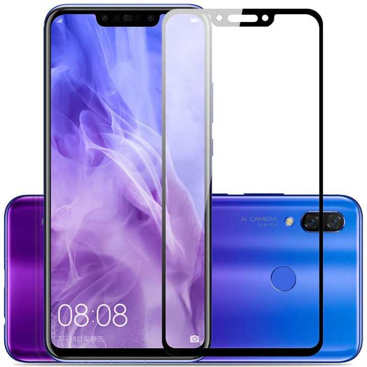 3D Tempered Glass for Huawei Nova 3 and Nova 3i - Premium Quality - Ultra Thin -Easy to install with coating of oleopholic