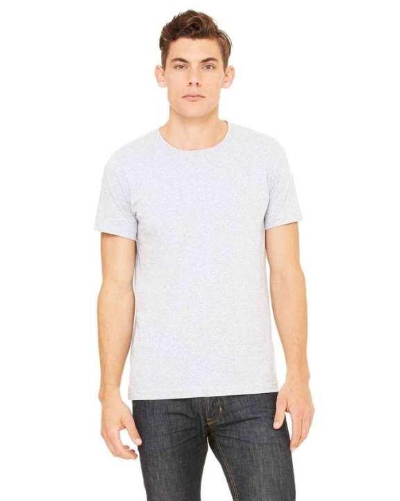 Plain R-neck Short Sleeve T-Shirt For Men - Grey