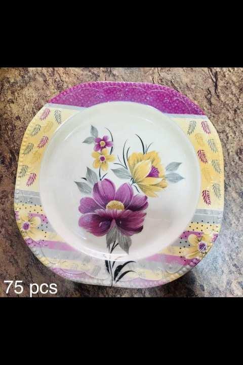 75 pieces melamine purple dinner set