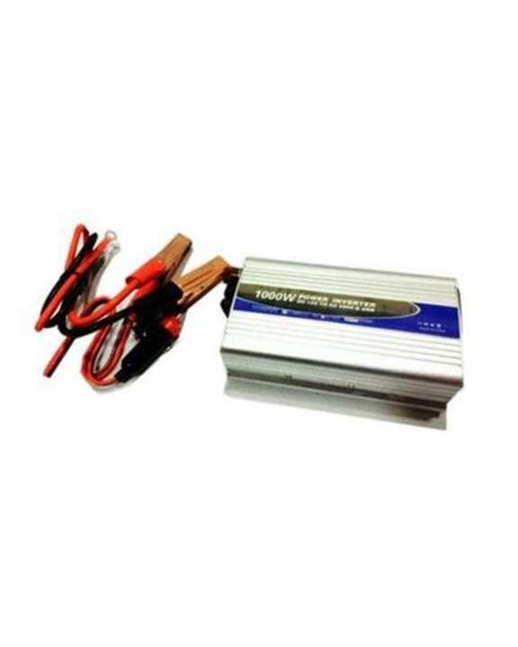 HB Traders 12V To AC 220V Power Inverter - 1000W - Silver & Black