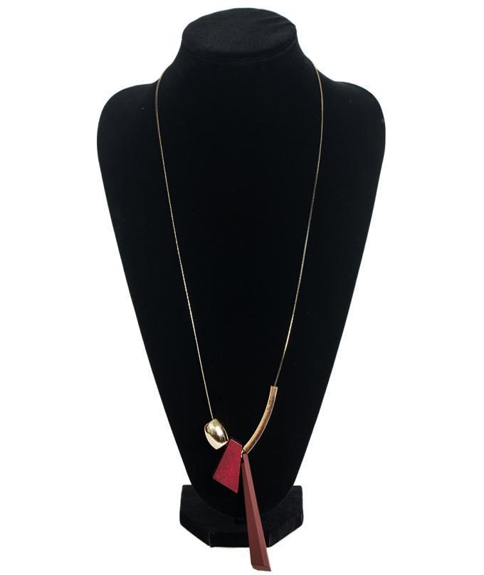 Necklace Statement Long Necklaces & Pendants Wood Necklace