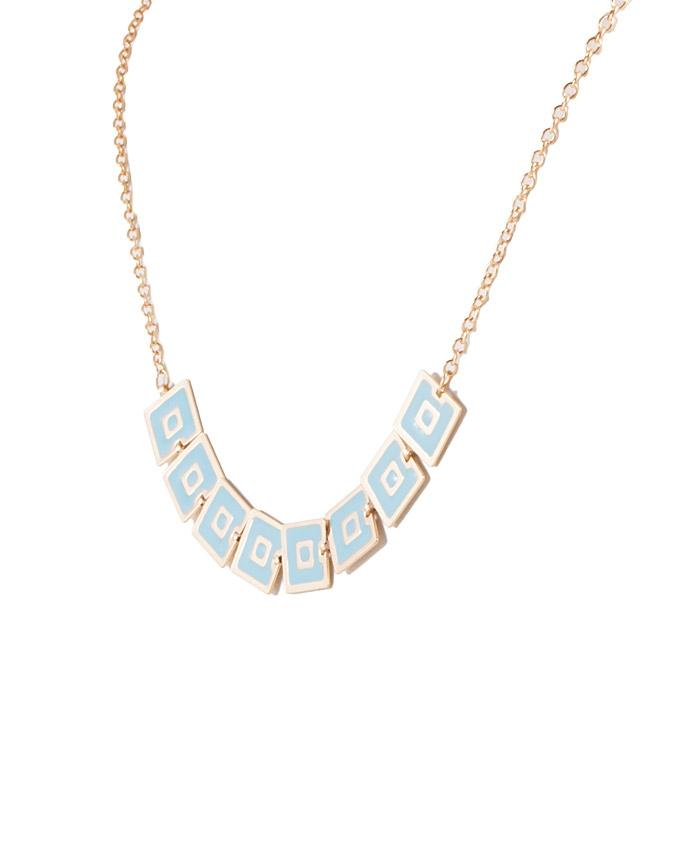 Blue & Gold Alloy Necklace