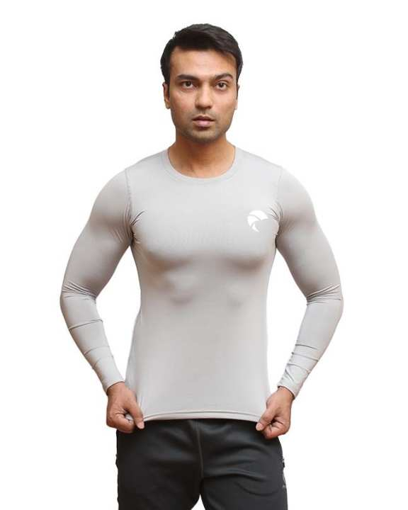 Ash Grey Polyester Shirt for Men - 1690