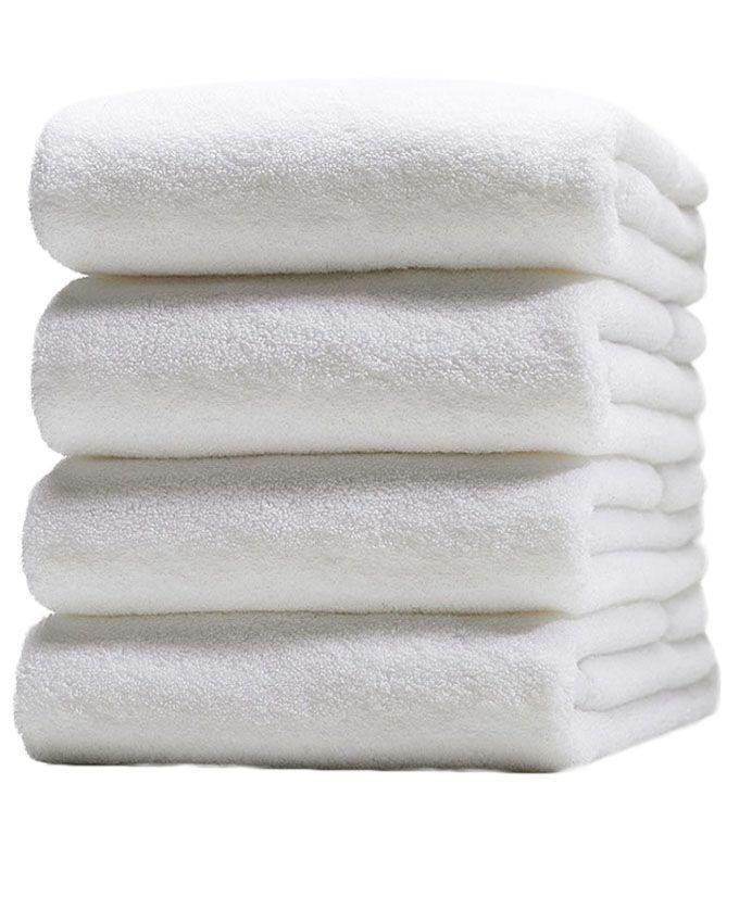 Pack of 4 - Bath Towels - White